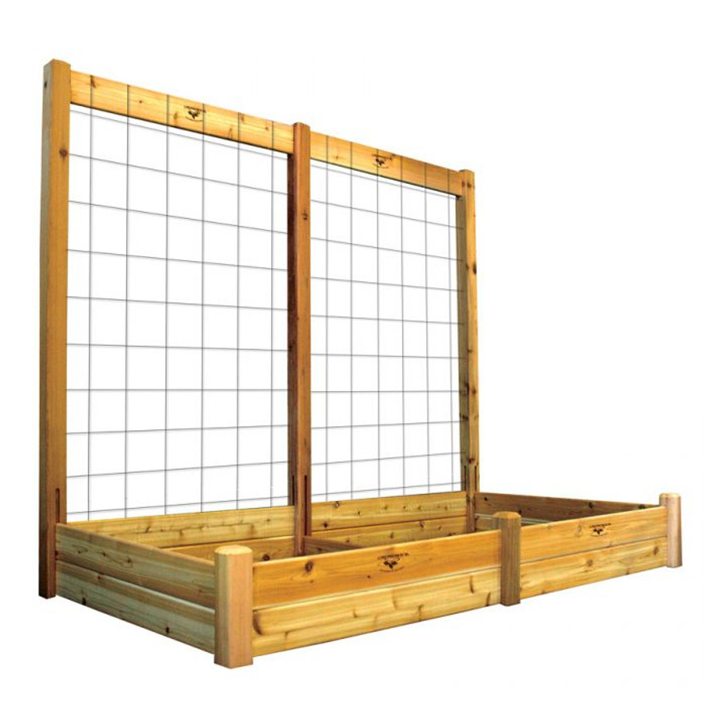 "Raised Garden Bed with Trellis Kit 48x95x80 - 10""D"