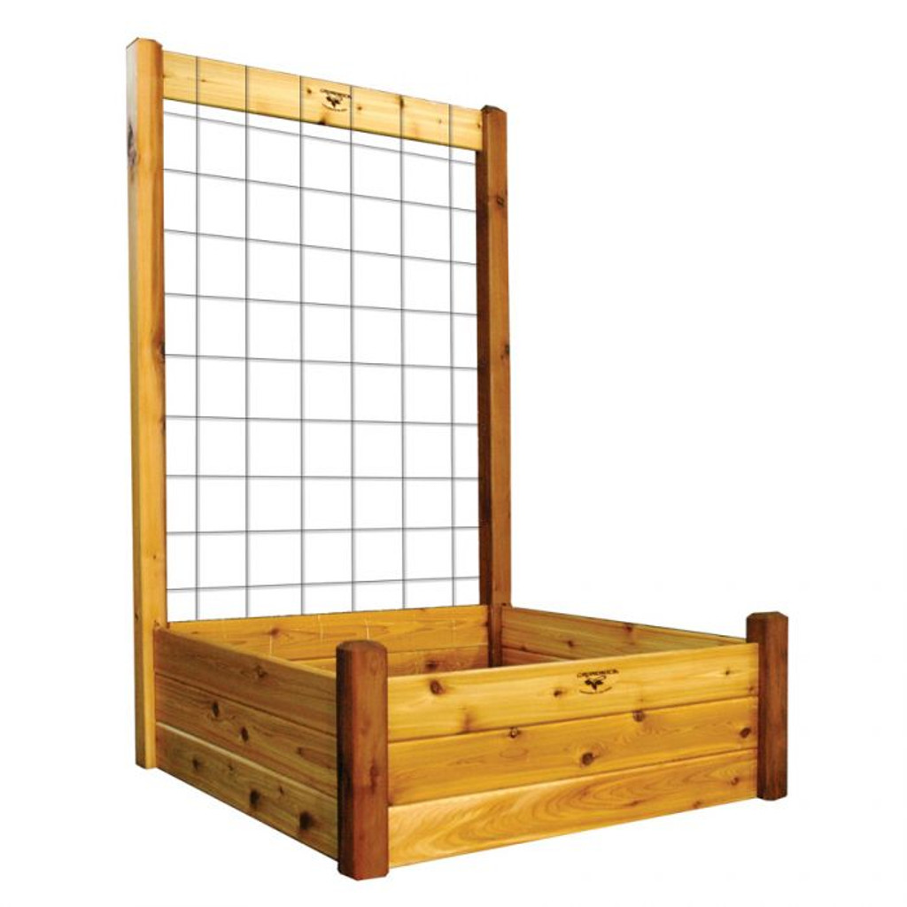 """-TEMPORARILY OUT OF STOCK-Raised Garden Bed with Trellis Kit  48x48x80 - 15""""D"""