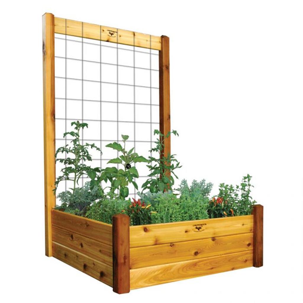 "Raised Garden Bed with Trellis Kit  48x48x80 - 15""D"