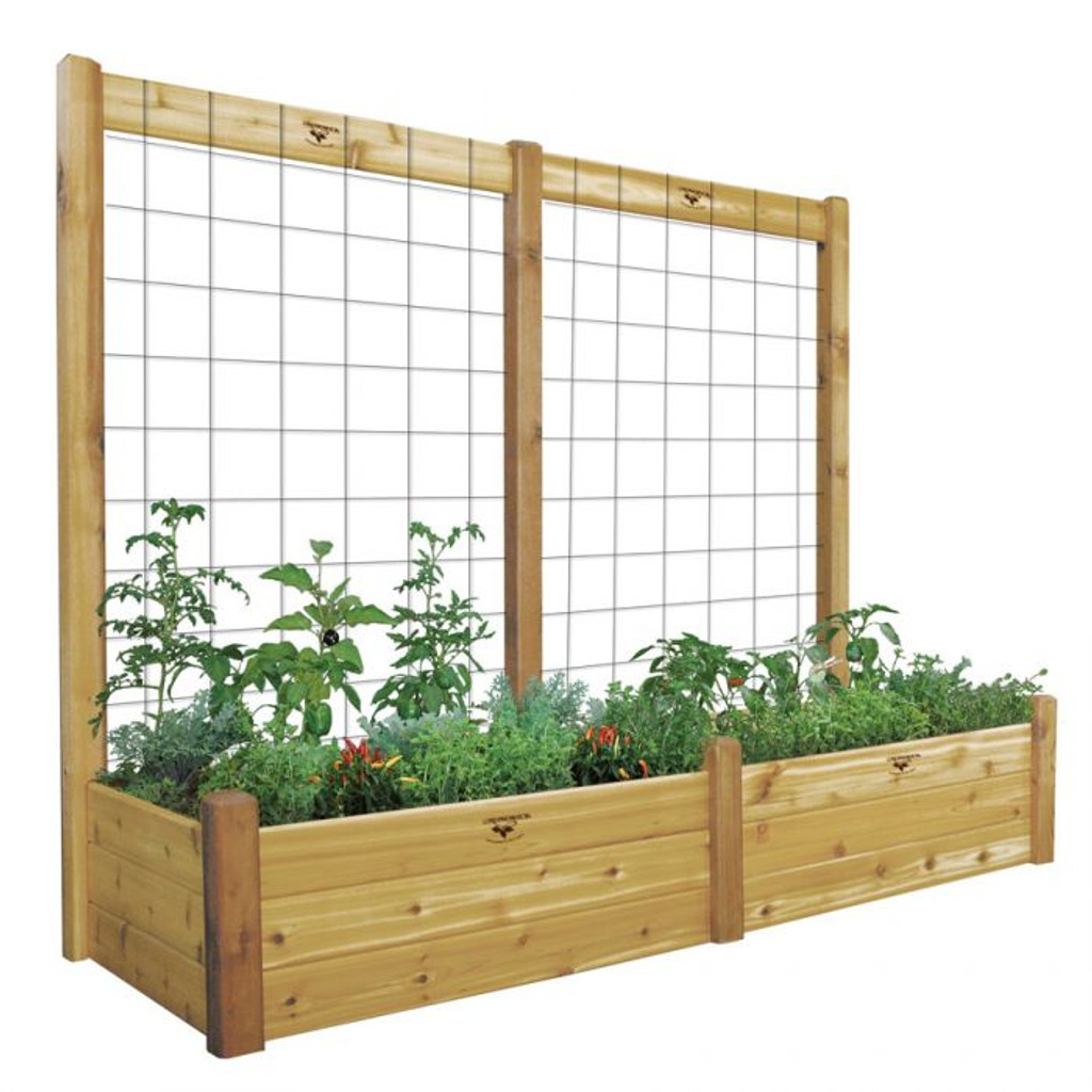 "Raised Garden Bed with Trellis Kit  34x95x80 - 15""D"