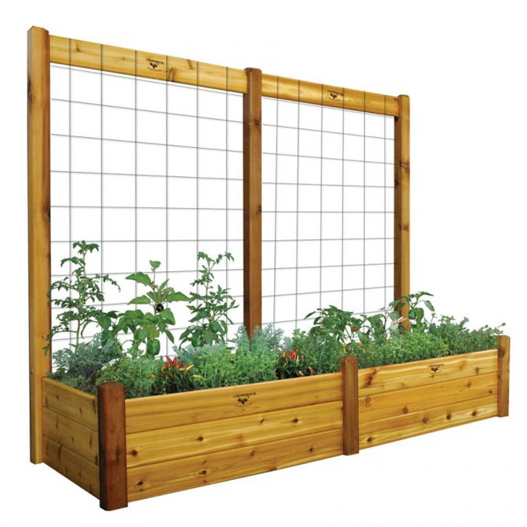 Raised Gdn Bed With Trellis Kit 34x95x80 15 D Gronomics