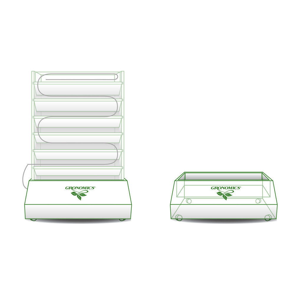 Vertical Garden Self-Watering AC System & Stand