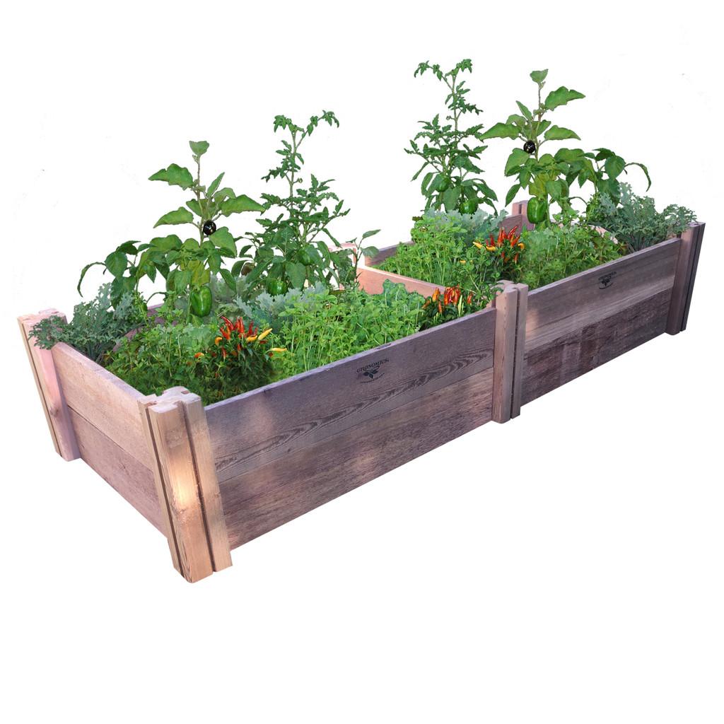 "Modular Rustic Garden Bed 24""Wx72""x13""H"