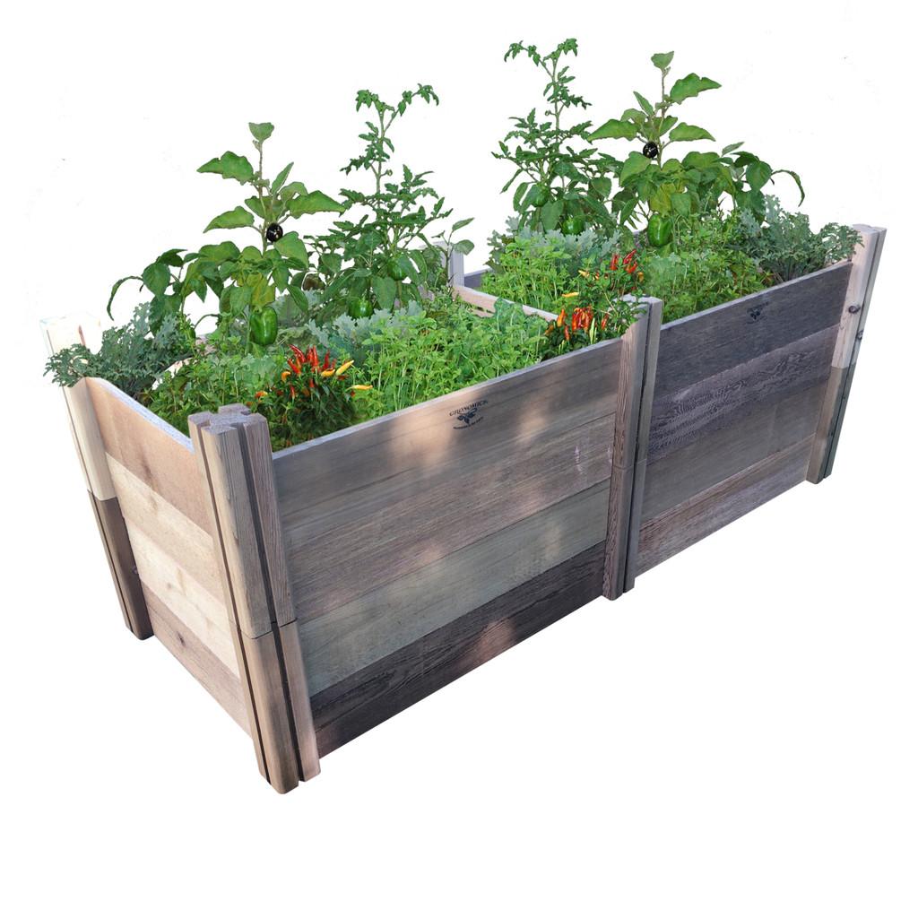 "Modular Rustic Garden Bed 24""Wx72""x26""H"