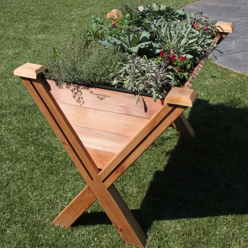 "ECO Modular Rustic Garden Wedge 30x48x32 - 18""D"