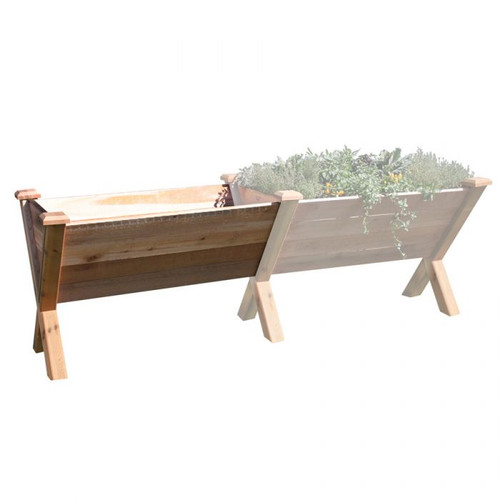 "ECO Modular Rustic Garden Wedge 30x48x32 - 18""D Extension Kit"