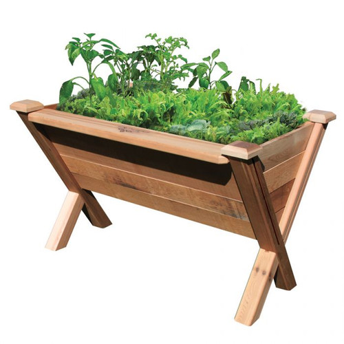 """-TEMPORARILY OUT OF STOCK- Modular Rustic Garden Wedge 36x48x32 - 18""""D"""