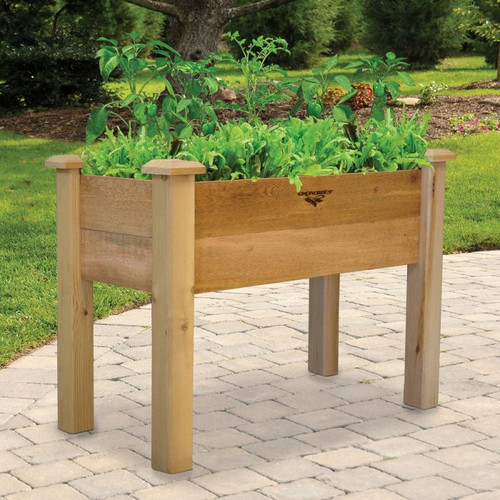 "Rustic Elevated Garden Bed 18x34x32 - 10""D"