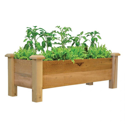 "Rustic Planter Box 18x48x19 - 9""D"