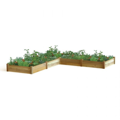 """-TEMPORARILY OUT OF STOCK- """"L"""" Shaped Modular Raised Garden Bed 142x142x13"""