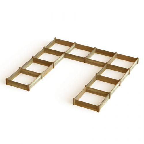 """U"" Shaped Harvester Raised Garden Bed 189x189x13"