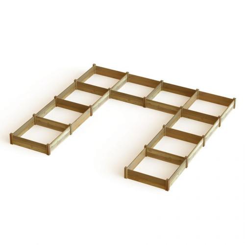 """U"" Shaped Harvester Raised Garden Bed 189x189x13"
