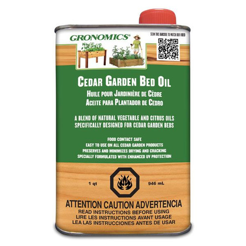 Cedar Garden Bed Oil - 1 Quart