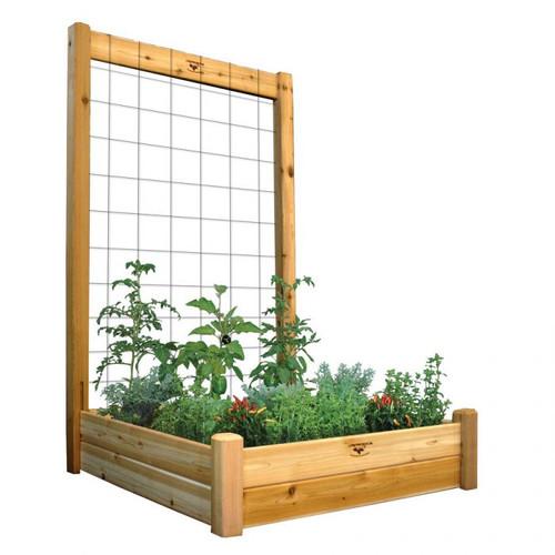 "Raised Garden Bed with Trellis Kit  48x48x80 - 10""D"