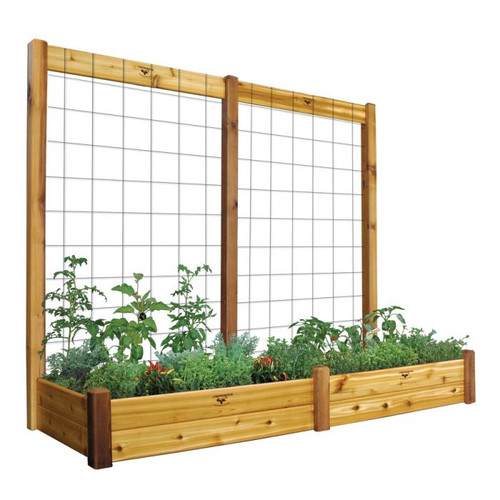 "Raised Garden Bed with Trellis Kit  34x95x80 - 10""D"