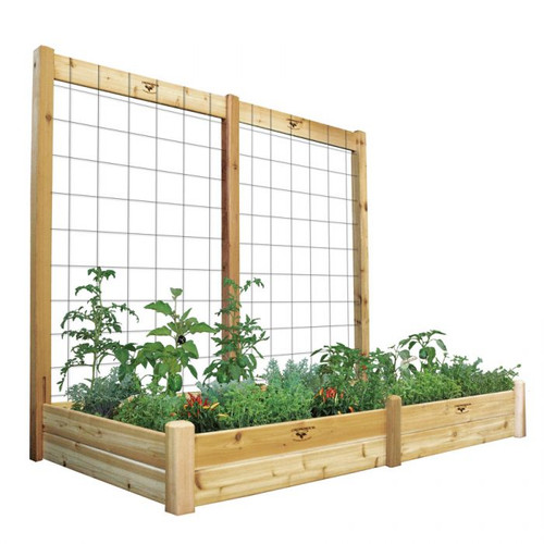 """-TEMPORARILY OUT OF STOCK-Raised Garden Bed with Trellis Kit 48x95x80 - 10""""D"""