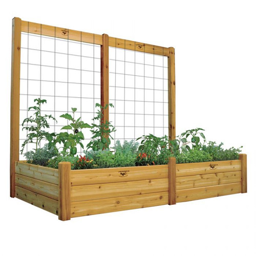 "Raised Garden Bed with Trellis Kit 48x95x80 - 15""D"
