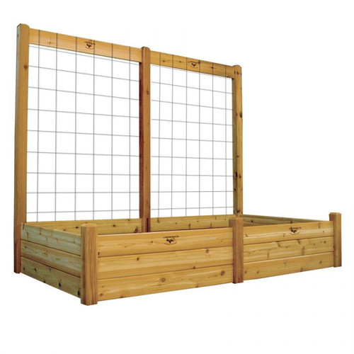 "Raised Garden Bed with Trellis Kit 48x95x80 - 15""D"