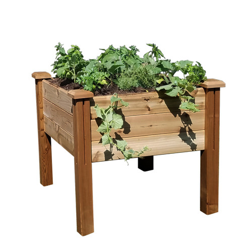 "Modular Elevated Garden Bed 34""Wx34""Lx32""H"