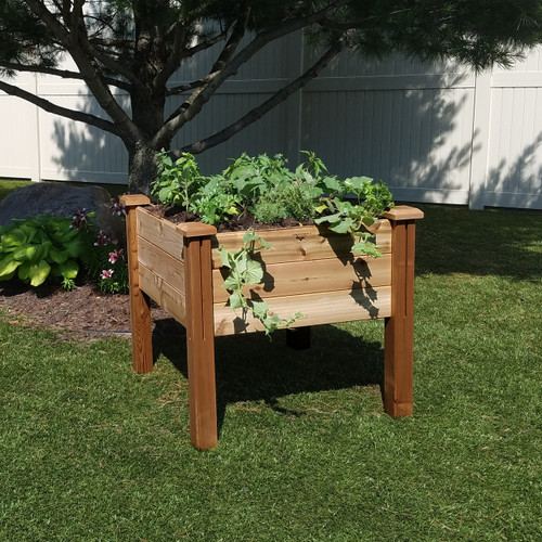 "Modular Elevated Garden Bed 34""Wx34""Lx32""H Safe Finish"