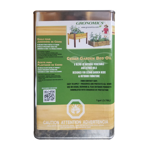 -TEMPORARILY OUT OF STOCK- Cedar Garden Bed Oil - 1 Gallon