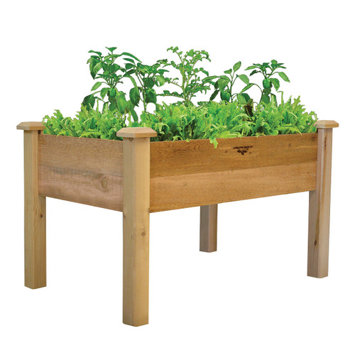 Rustic Elevated Garden Bed 34x48x32