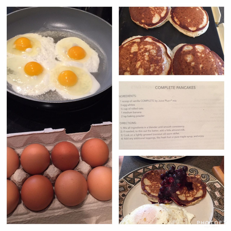 Fresh Farm Eggs and Pancake Breakfast