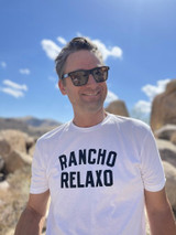 Rancho Relaxo Coastal Classics RR Men's Sueded Collegiate Tee White