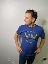 Rancho Relaxo Recover Brands Mens Recycled Logo Tee Sweet Blue
