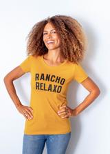 Rancho Relaxo Coastal Classics Ladies Soft Blend Collegiate Tee Antique Gold
