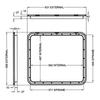Coast Access Door 4 - Dimensions of door and frame | 600-00006