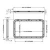 Coast Black Access Door 1 - Dimensions of door and frame | 600-00022