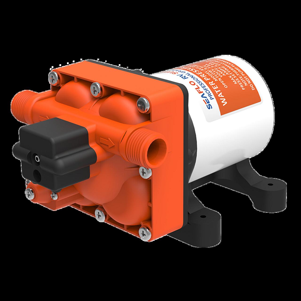 SEAFLO RV Supreme 55psi/9.5LMP 24V Water Pump c/w Filter & Fittings |  800-03302
