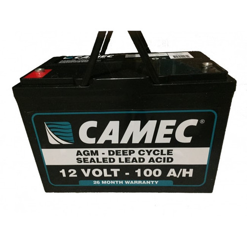 Camec 100Ah Absorbed Glass Mat Sealed Lead Acid Battery
