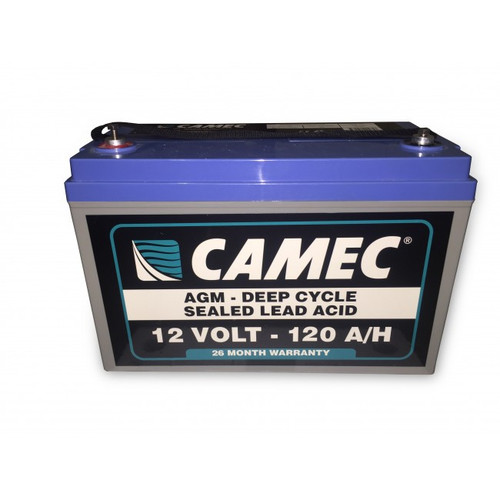 Camec 120Ah Absorbed Glass Mat Sealed Lead Acid Battery