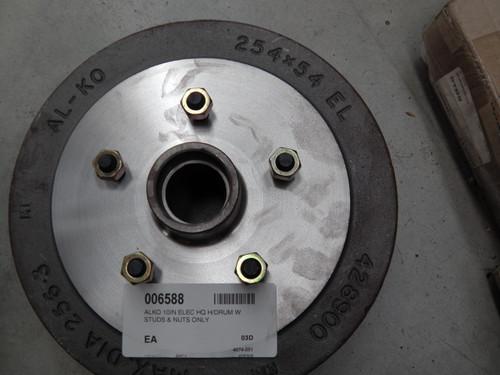 H/Drum Elec Hq 10In Alko W Studs & Nuts Only | 6588 | Caravan Parts