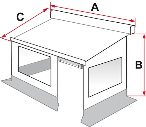 Fiamma Privacy Room - 350cm Medium   150-02304