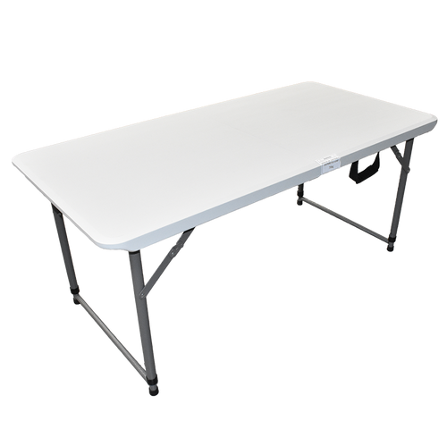 4' Bi-Folding Table With Telescopic Legs And One Touch Lock, 120X60Cm. Hy-Z122C | 400-01902