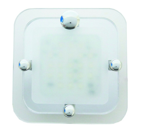CAMEC LED Light Square CRYSTAL 1 SECTION COMPLETE WITH TOUCH BUTTON | 40312 | Caravan Parts