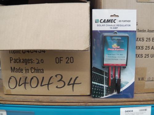 SOLAR CHARGE CONTROLLER 10 AMP 12V CAMEC   40434   Caravan Parts