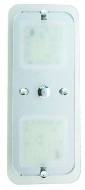 CAMEC LED SQ CRYSTAL 2 SECTION COMPLETE WITH TOUCH BUTTON   040311   Caravan Parts