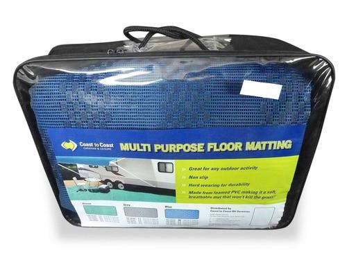 CoastRV Annexe Floor Mat, 5.0m x 2.5m Blue