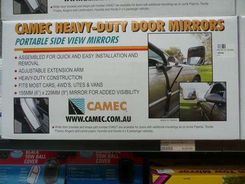Heavy Duty Door Mirror, Ratchet Strap Type | 34194 | Caravan Parts