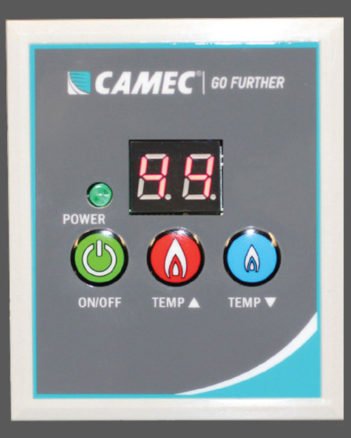 Camec Instant Gas Hot Water Heater - Black - Control panel (no black panel example photo available, sorry!)