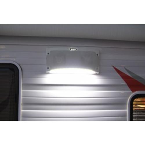 Bluetooth Speaker & Awning Light, White - Weatherproof, RV Media