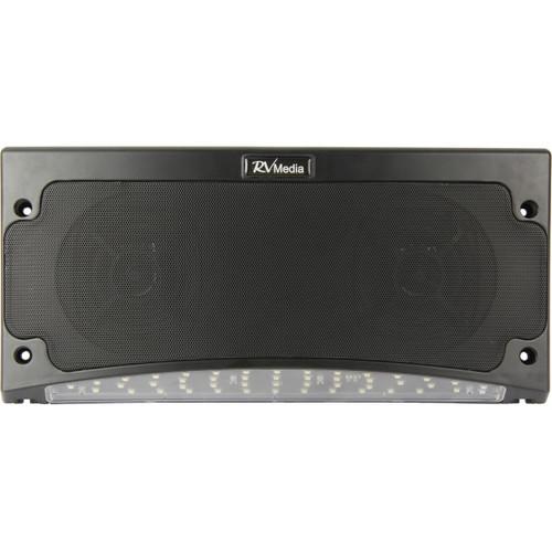 Bluetooth Speaker & Awning Light, Black - Weatherproof, RV Media   042492