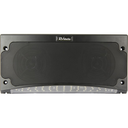 Bluetooth Speaker & Awning Light, Black - Weatherproof, RV Media | 042492