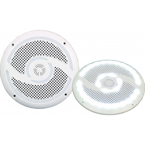 6 Inch 200W LED Weatherproof Speakers with Spacers - Pair, RV Media