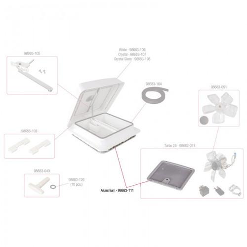 Fiamma Flyscreen T/S 280 X 280mm 98683-111 Diagram