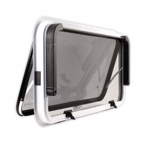 280 h x 914 w Odyssey 2 Radius Corner Window - White Frame Back View | 41320